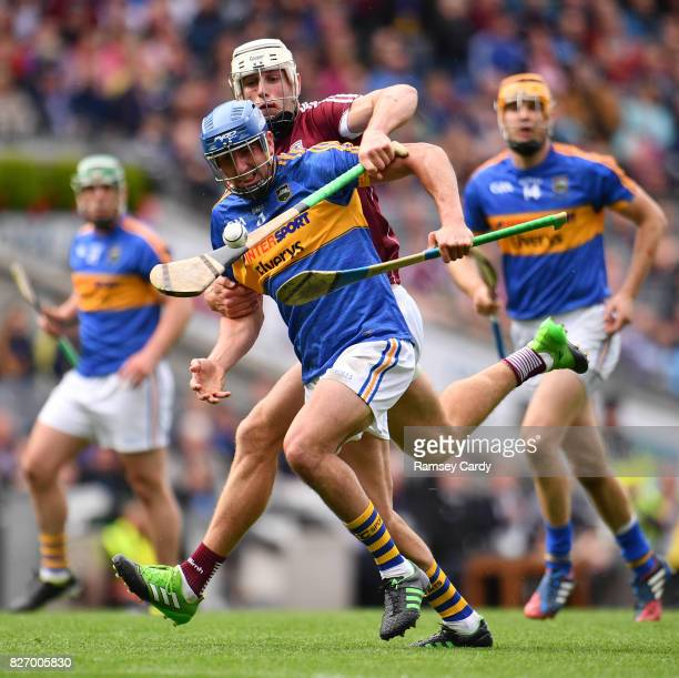 Dublin Ireland 6 August 2017 Patrick Maher of Tipperary is tackled by Gearoid McInerney of Galway during the GAA Hurling AllIreland Senior...