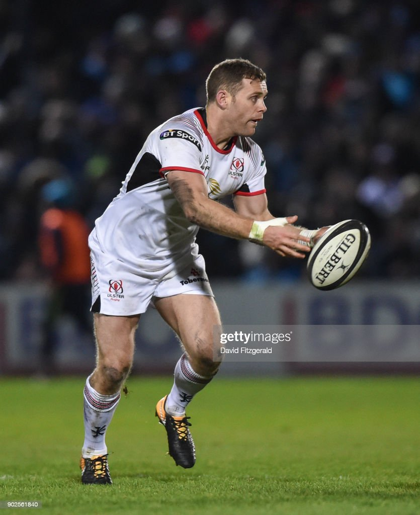 Dublin , Ireland - 6 January 2018; Darren Cave of Ulster during the Guinness PRO14 Round 13 match between Leinster and Ulster at the RDS Arena in Dublin.
