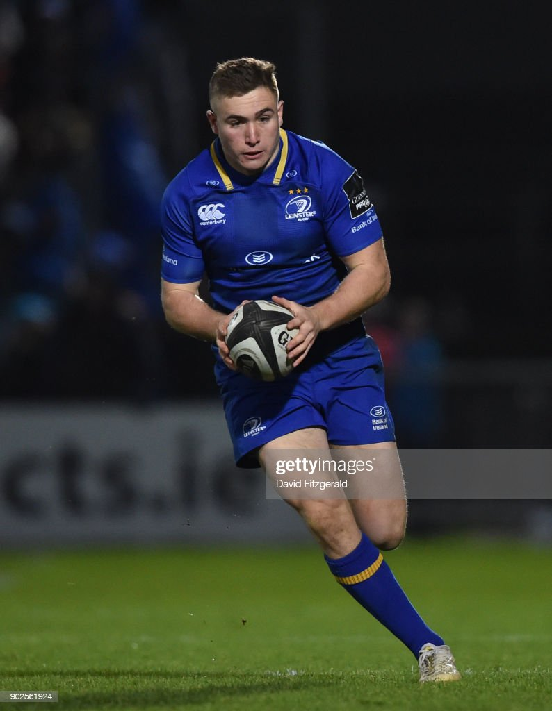 Dublin , Ireland - 6 January 2018; Jordan Larmour of Leinster during the Guinness PRO14 Round 13 match between Leinster and Ulster at the RDS Arena in Dublin.