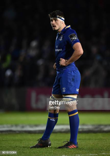 Dublin Ireland 6 January 2018 Max Deegan of Leinster during the Guinness PRO14 Round 13 match between Leinster and Ulster at the RDS Arena in Dublin