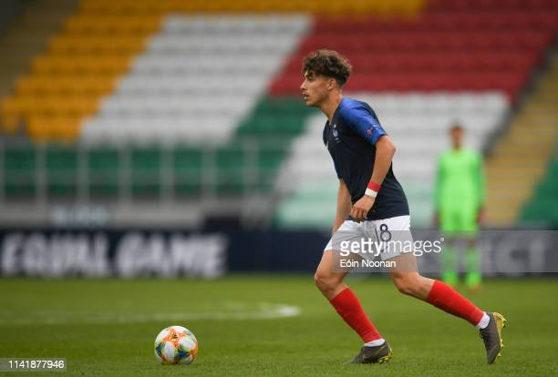 Dublin Ireland 6 May 2019 Adil Aouchiche of France during the 2019 UEFA European Under17 Championships Group B match between France and Sweden at...