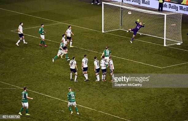 Dublin , Ireland - 6 November 2016; Kevin O'Connor of Cork City goes close with a free kick during the Irish Daily Mail FAI Cup Final match between...