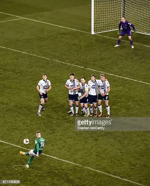 Dublin , Ireland - 6 November 2016; Kevin O'Connor of Cork City takes a free kick during the Irish Daily Mail FAI Cup Final match between Cork City...