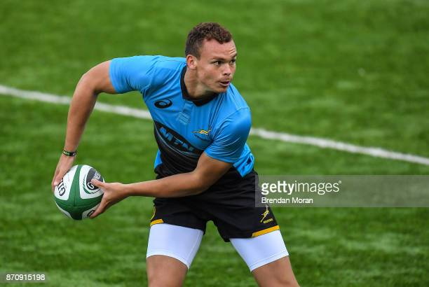 Dublin Ireland 6 November 2017 Curwin Bosch during South Africa Squad Training at Donnybrook Stadium in Dublin