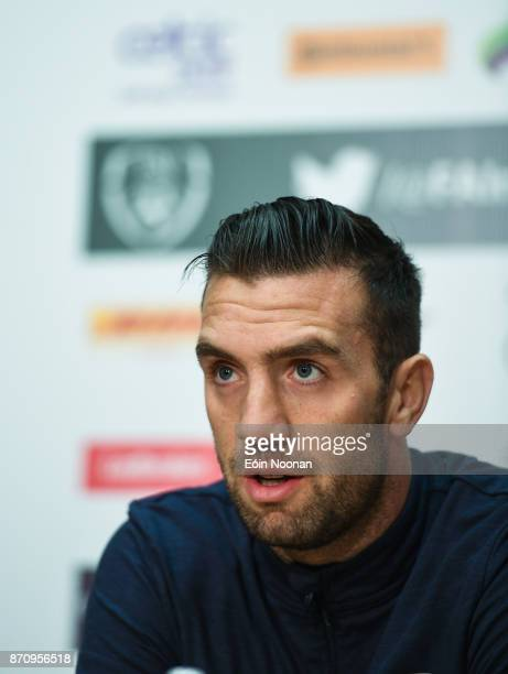 Dublin Ireland 6 November 2017 Shane Duffy of Republic of Ireland during a Press Conference at FAI National Training Centre in Abbotstown Dublin
