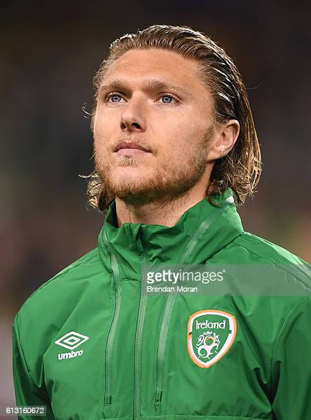 Dublin Ireland 6 October 2016 Jeff Hendrick of Republic of Ireland before the FIFA World Cup Group D Qualifier match between Republic of Ireland and...
