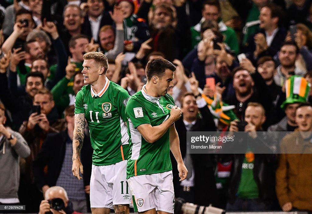 Republic of Ireland v Georgia - FIFA World Cup Group D Qualifier : Nachrichtenfoto