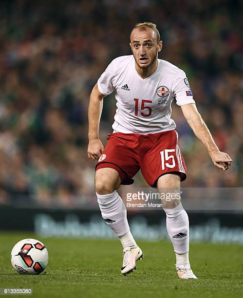 Dublin Ireland 6 October 2016 Valerian Gvilia of Georgia during the FIFA World Cup Group D Qualifier match between Republic of Ireland and Georgia at...