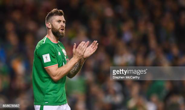 Dublin Ireland 6 October 2017 Daryl Murphy of Republic of Ireland during the FIFA World Cup Qualifier Group D match between Republic of Ireland and...