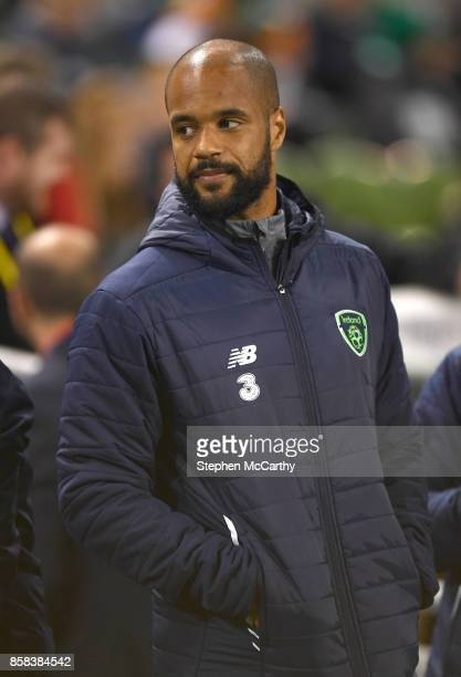 Dublin Ireland 6 October 2017 David McGoldrick of the Republic of Ireland prior to the FIFA World Cup Qualifier Group D match between Republic of...