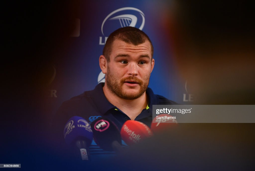 Dublin , Ireland - 6 October 2017; Jack McGrath of Leinster during Leinster Rugby Press Conference at Leinster Rugby HQ, UCD, Belfield, in Dublin.