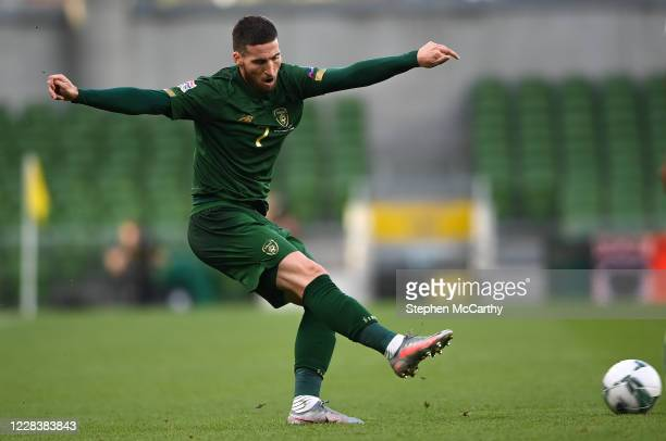 Dublin , Ireland - 6 September 2020; Matt Doherty of Republic of Ireland during the UEFA Nations League B match between Republic of Ireland and...
