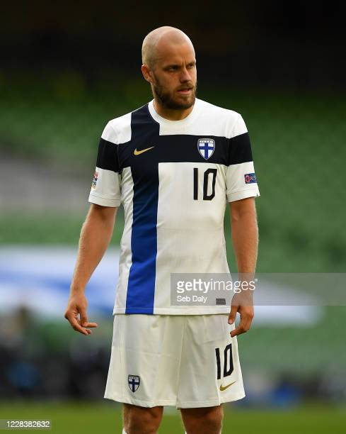 Dublin , Ireland - 6 September 2020; Teemu Pukki of Finland during the UEFA Nations League B match between Republic of Ireland and Finland at the...
