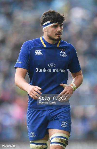 Dublin Ireland 7 April 2018 Max Deegan of Leinster during the Guinness PRO14 Round 19 match between Leinster and Zebre at the RDS Arena in Dublin