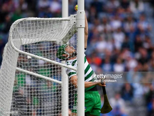 Dublin , Ireland - 7 August 2021; Limerick goalkeeper Nickie Quaid stops a ball over the bar, from a free from Stephen Bennett of Waterford in the...
