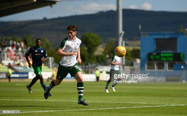 Dublin Ireland 7 July 2018 Anthony Ralston of Glasgow Celtic during the Soccer friendly between Shamrock Rovers and Glasgow Celtic at Tallaght...