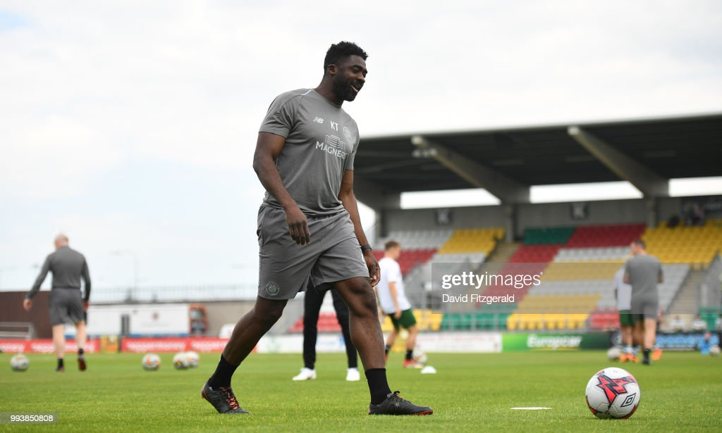 Dublin , Ireland - 7 July 2018; Kolo Toure of Glasgow Celtic prior to the Soccer friendly between Shamrock Rovers and Glasgow Celtic at Tallaght Stadium in Tallaght, Co. Dublin.