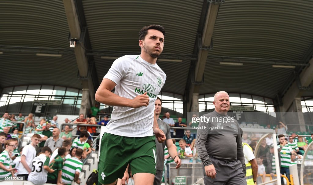 Dublin , Ireland - 7 July 2018; Lewis Morgan of Glasgow Celtic takes to the field prior to the Soccer friendly between Shamrock Rovers and Glasgow Celtic at Tallaght Stadium in Tallaght, Co. Dublin.