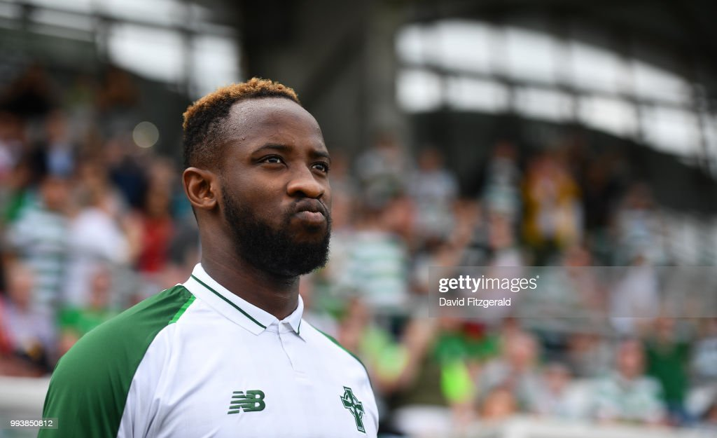 Dublin , Ireland - 7 July 2018; Moussa Dembele of Glasgow Celtic prior to the Soccer friendly between Shamrock Rovers and Glasgow Celtic at Tallaght Stadium in Tallaght, Co. Dublin.