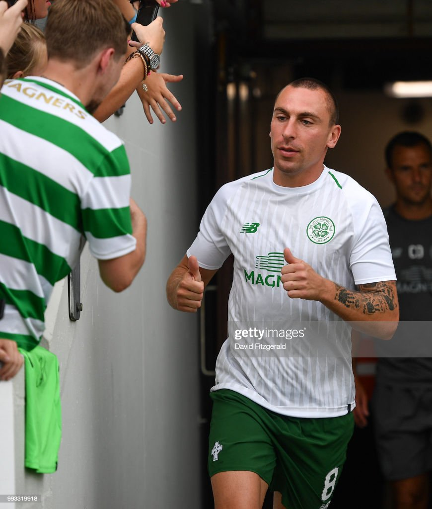 Dublin , Ireland - 7 July 2018; Scott Brown of Celtic prior to the Soccer friendly between Shamrock Rovers and Glasgow Celtic at Tallaght Stadium in Tallaght, Co. Dublin.
