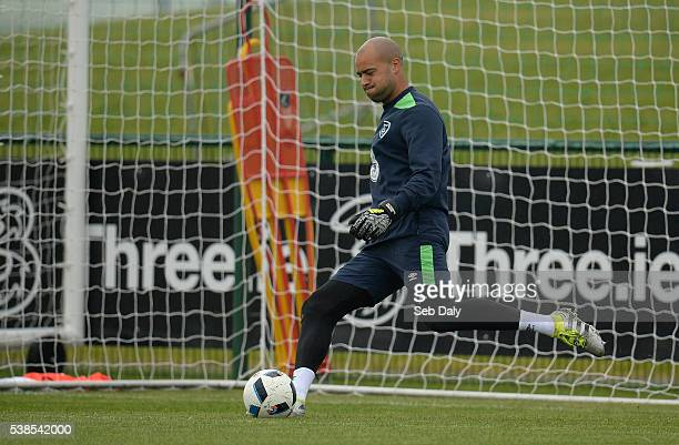 Dublin Ireland 7 June 2016 Darren Randolph of Republic of Ireland during squad training at the National Sports Campus in Abbotstown Dublin