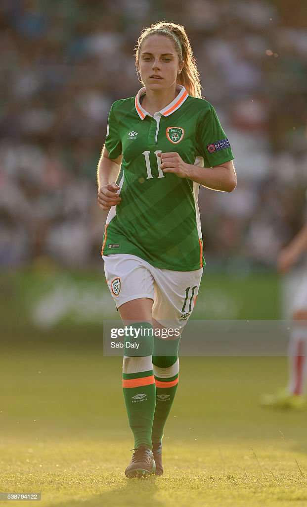 Dublin , Ireland - 7 June 2016; Julie Ann Russell of Republic of Ireland during the Women's 2017 European Championship Qualifier between Republic of Ireland and Montenegro in Tallaght Stadium, Tallaght, Co. Dublin.