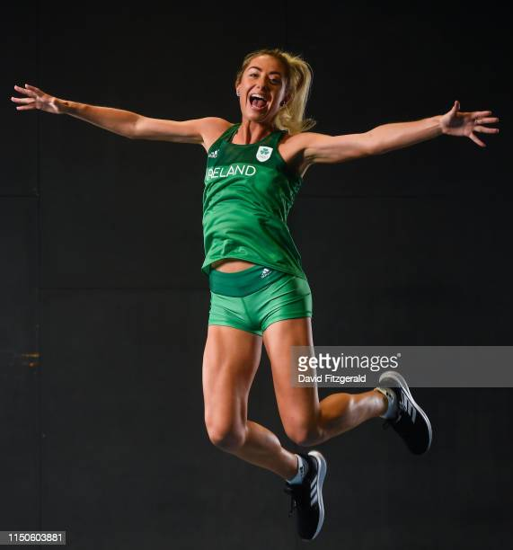 Dublin Ireland 7 June 2019 Team Ireland athlete Amy O'Donoghue prepares for competition at the European Games in Minsk at Sport Ireland Institute in...