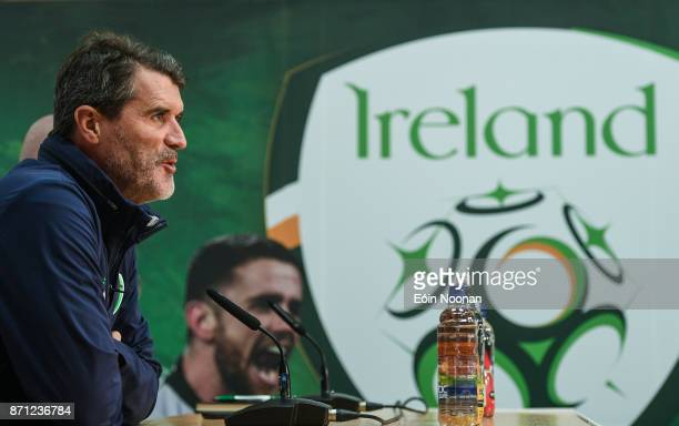Dublin Ireland 7 November 2017 Republic of Ireland assistant manager Roy Keane arriving to a Republic of Ireland press conference at FAI National...