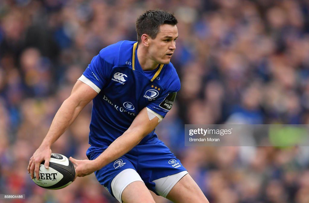 Dublin , Ireland - 7 October 2017; Jonathan Sexton of Leinster during the Guinness PRO14 Round 6 match between Leinster and Munster at the Aviva Stadium in Dublin.