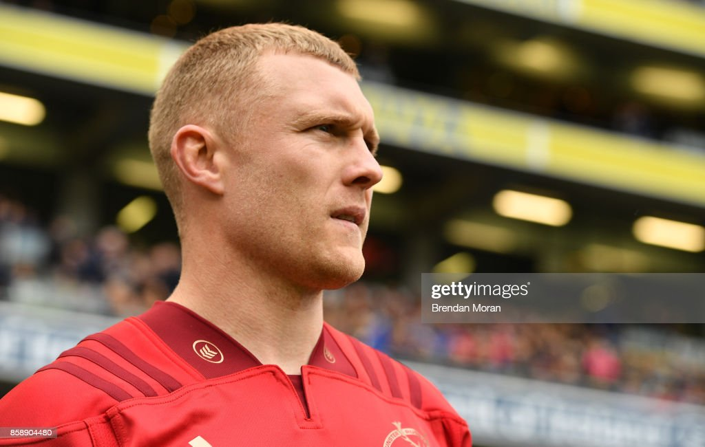 Dublin , Ireland - 7 October 2017; Keith Earls of Munster prior to the Guinness PRO14 Round 6 match between Leinster and Munster at the Aviva Stadium in Dublin.