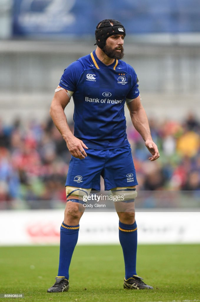 Dublin , Ireland - 7 October 2017; Scott Fardy of Leinster during the Guinness PRO14 Round 6 match between Leinster and Munster at the Aviva Stadium in Dublin.