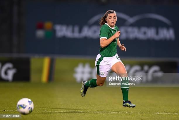 Dublin , Ireland - 8 April 2021; Katie McCabe of Republic of Ireland during the women's international friendly match between Republic of Ireland and...