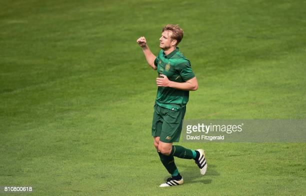 Dublin Ireland 8 July 2017 Stuart Armstrong of Celtic celebrates after scoring his side's 7th goal during the friendly match between Shamrock Rovers...