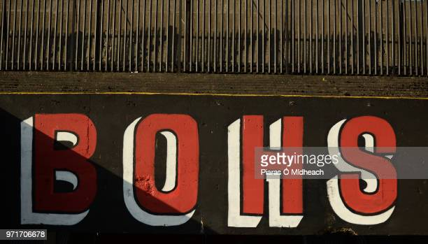 Dublin Ireland 8 June 2018 A general view of a Bohs sign at the SSE Airtricity League Premier Division match between Bohemians and Derry City at...