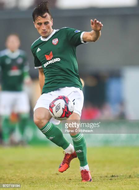 Dublin Ireland 8 June 2018 Aaron McEneff of Derry City during the SSE Airtricity League Premier Division match between Bohemians and Derry City at...