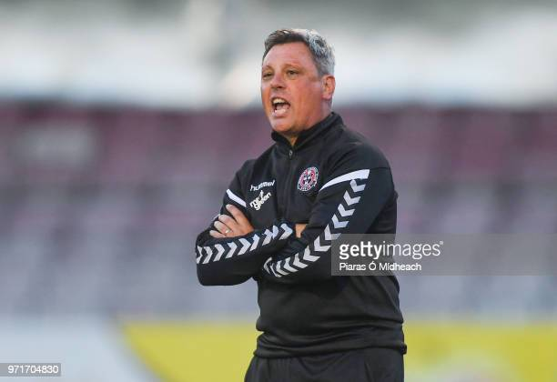 Dublin Ireland 8 June 2018 Bohemians manager Keith Long during the SSE Airtricity League Premier Division match between Bohemians and Derry City at...