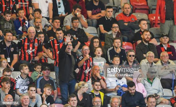 Dublin Ireland 8 June 2018 Bohemians supporters during the SSE Airtricity League Premier Division match between Bohemians and Derry City at Dalymount...