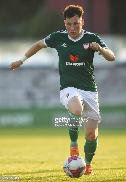 Dublin Ireland 8 June 2018 Conor McDermott of Derry City during the SSE Airtricity League Premier Division match between Bohemians and Derry City at...