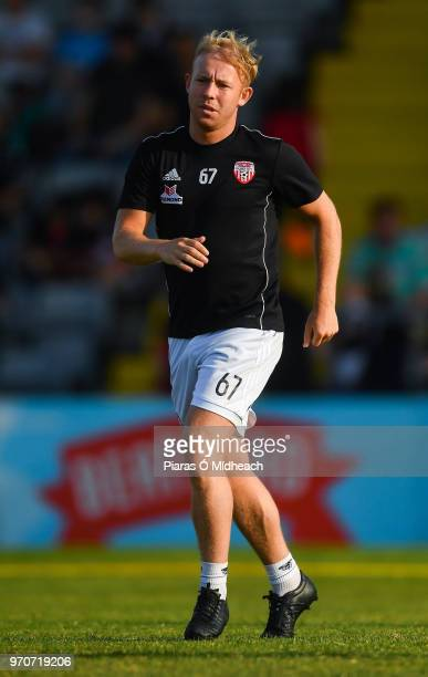 Dublin Ireland 8 June 2018 Nicky Low of Derry City in the warmup before the SSE Airtricity League Premier Division match between Bohemians and Derry...