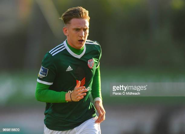 Dublin Ireland 8 June 2018 Ronan Curtis of Derry City during the SSE Airtricity League Premier Division match between Bohemians and Derry City at...