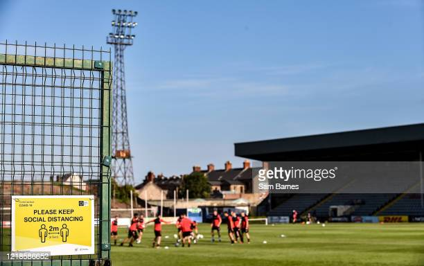 Dublin , Ireland - 8 June 2020; A general view during a Bohemian FC training session at Dalymount Park in Dublin. Following approval from the...