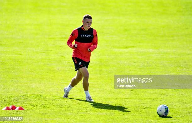 Dublin , Ireland - 8 June 2020; Callum Thompson during a Bohemian FC training session at Dalymount Park in Dublin. Following approval from the...
