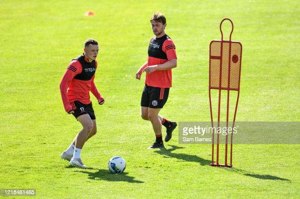 Dublin , Ireland - 8 June 2020; Callum Thompson, left, during a Bohemian FC training session at Dalymount Park in Dublin. Following approval from the...