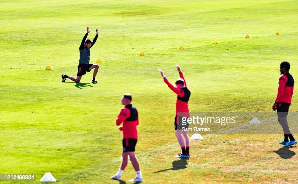 Dublin , Ireland - 8 June 2020; Coach Trevor Crolly leads a drill during a Bohemian FC training session at Dalymount Park in Dublin. Following...