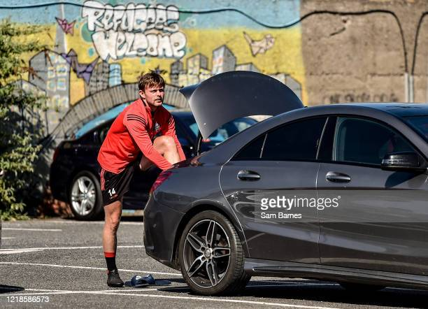 Dublin , Ireland - 8 June 2020; Conor Levingstone arrives ahead of a Bohemian FC training session at Dalymount Park in Dublin. Following approval...