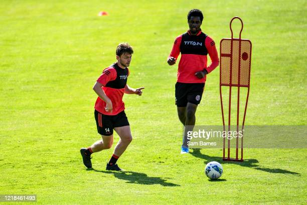 Dublin , Ireland - 8 June 2020; Conor Levingstone, left, during a Bohemian FC training session at Dalymount Park in Dublin. Following approval from...