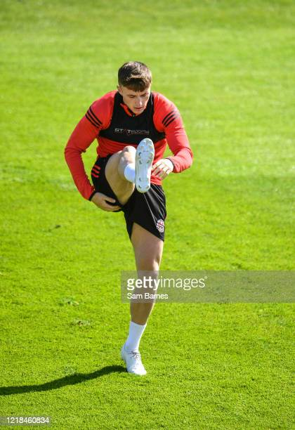 Dublin , Ireland - 8 June 2020; Daniel Grant warms up during a Bohemian FC training session at Dalymount Park in Dublin. Following approval from the...