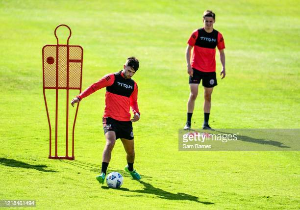 Dublin , Ireland - 8 June 2020; Danny Mandroiu, left, during a Bohemian FC training session at Dalymount Park in Dublin. Following approval from the...