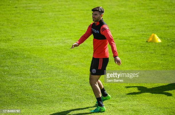 Dublin , Ireland - 8 June 2020; Danny Mandroiu warms up during a Bohemian FC training session at Dalymount Park in Dublin. Following approval from...