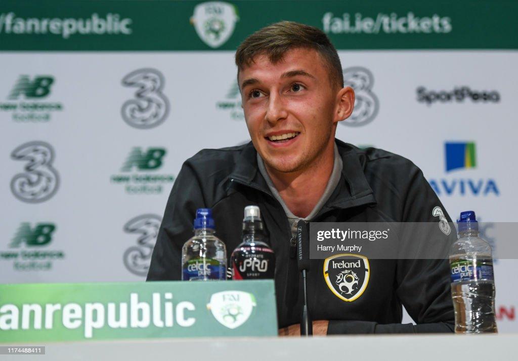 Republic of Ireland U21's Press Conference & Training Session : News Photo
